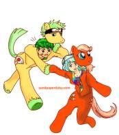 EVC14 Mascot alternate color_sandpaperdaisy