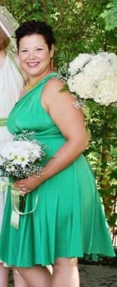 Henkaa Sakura Convertible Short Dress + Bandeau in Kelly Green (discontinued)