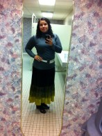 Old Banana Republic ombre velvet skirt + thrifted Michael Stars turtleneck