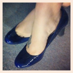 Thrifted Liz Claiborne Johnnie patent pumps in blue $10 – these are still available on DSW.com in brown