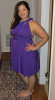 Von Vonni Short Transformer Dress in purple