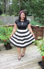 eshakti striped skirt