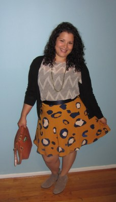 PHILLIP lim for Target mustard leopard skirt