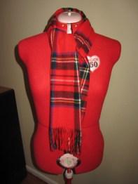 plaid / tartan acrylic scarf
