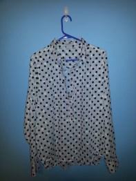 j crew factory cotton polka dot shirt