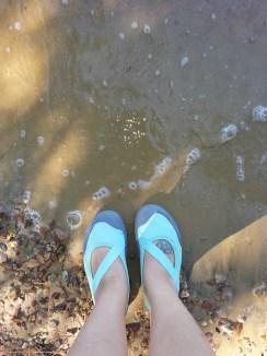keen water shoes // jordan lake NC