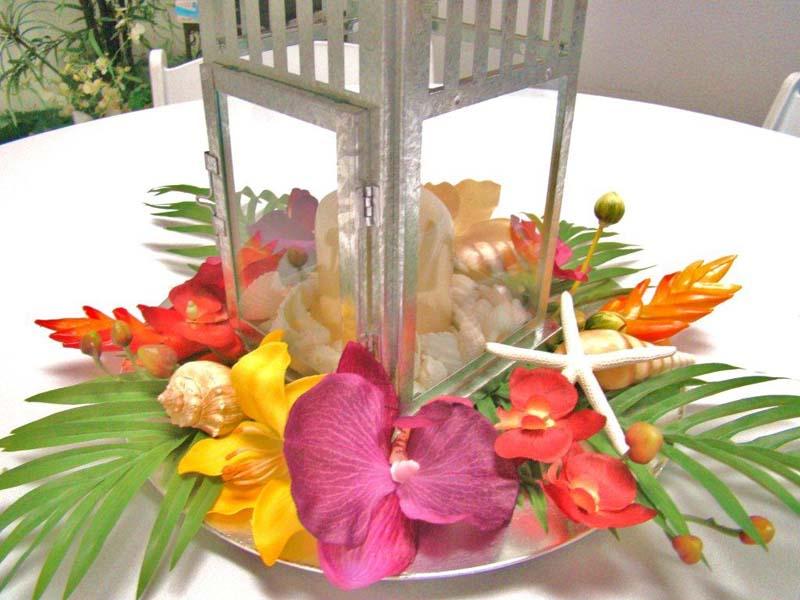 BEACH WEDDING RECEPTION CENTERPIECES