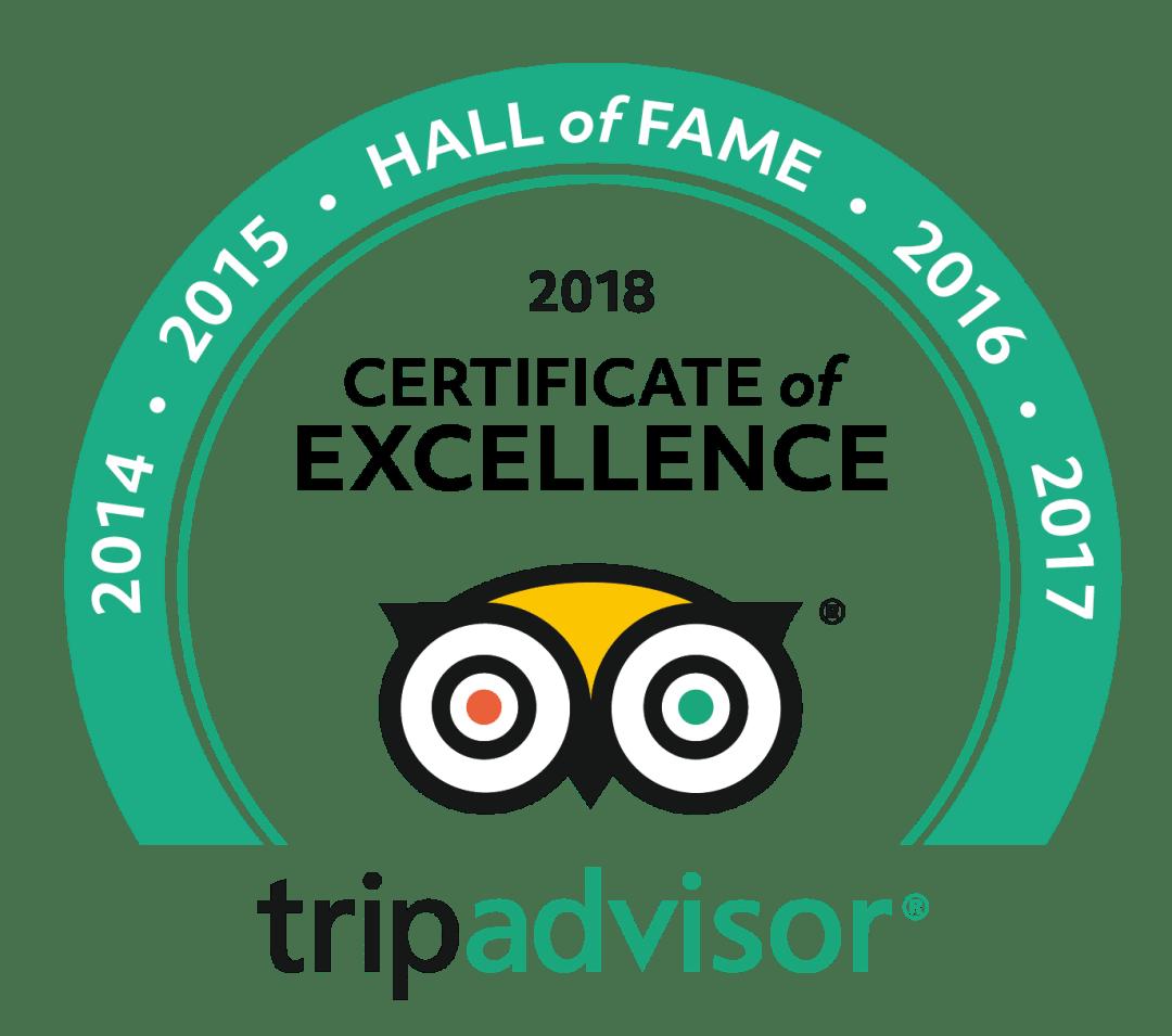 trip advisor hall of fame badge