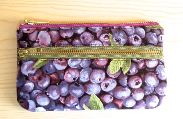 Double zip blueberry pouch