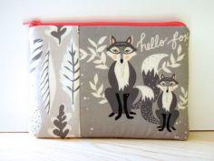 Hello Fox pouch