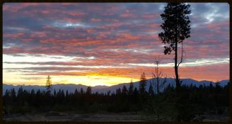 Moyie Springs Idaho Sunset