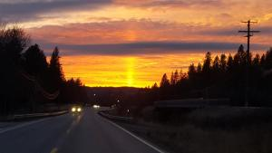North Idaho December Sunset