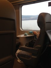The train ride on my way to Lillehammer