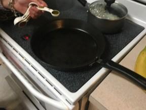 Oil the pan