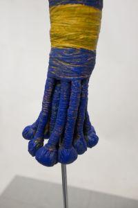 Kleine blauw met gele band