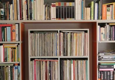 Boeken- en platenkast