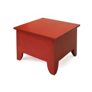 Salontafel met opbergruimte, rood