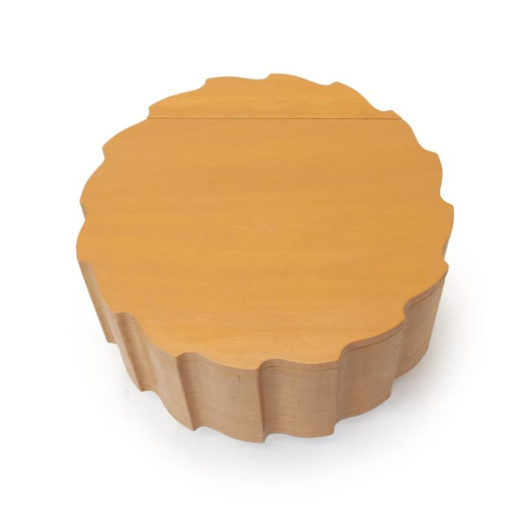 Gele salontafel met bergruimte