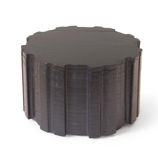 Zwarte salontafel met opbergruimte