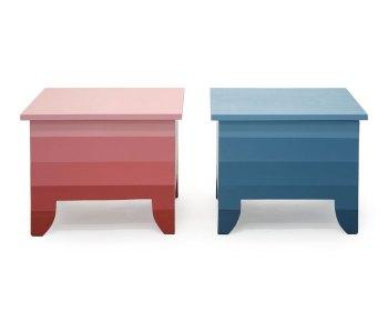 Gestreepte salontafels met opbergruimte