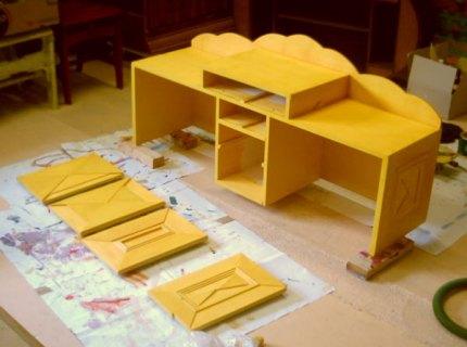 Maakproces bureau met opbouw