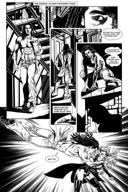 Gothic Geisha #3 Comic pg 7 by Sandra Chang-Adair
