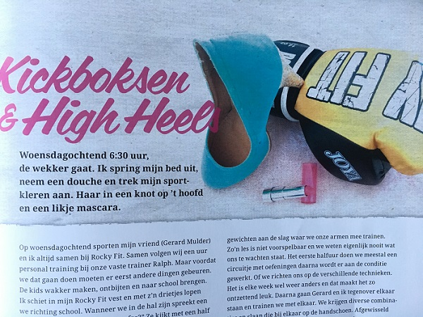 column kickboksen en high heels