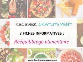 Fiches gratuites - Rééquilibrage alimentaire -Les principes bases d'une alimentation intuitive | www.sandrafm.com