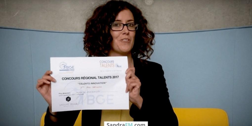 Sandra FM, concours talents bretagne 2017, laureats, bge, Sandra Fernandes-Machado, e-sante, promotion de la santé, prévention, obésité, surpoids, psychologue, santé publique