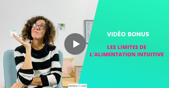Les limites de l'alimentation intuitive, alimentation emotionnelle, mangeuse emotionnelle, sandra fm