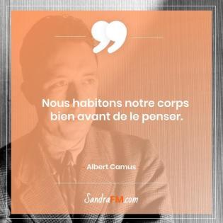 Je n'aime pas faire de sport comment faire Sandra FM image de soi Albert Camus Citation