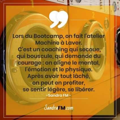 Libre de la fibromyalgie Sandra FM bootcamp atelier machine à laver coaching