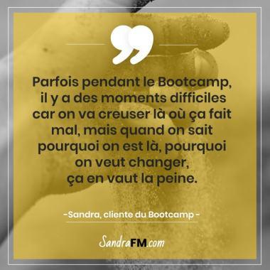 Libre de la fibromyalgie Sandra FM bootcamp douloureux difficile