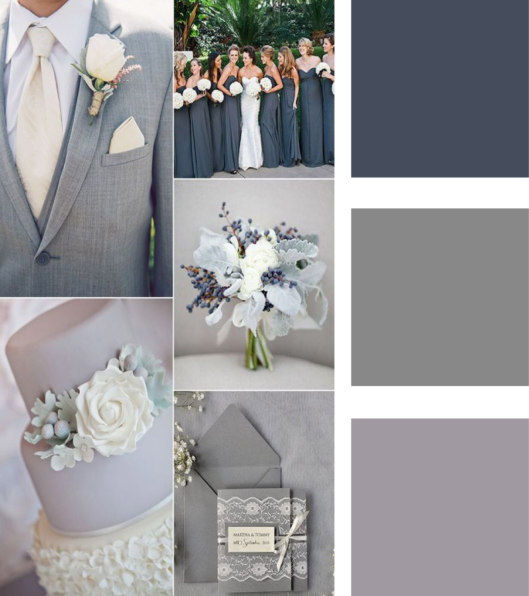 5 geniales combinaciones para tu boda con el color gris - Combinaciones con gris ...
