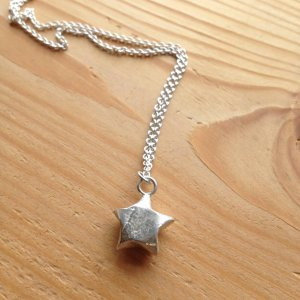 Silver Lucky Star Necklace