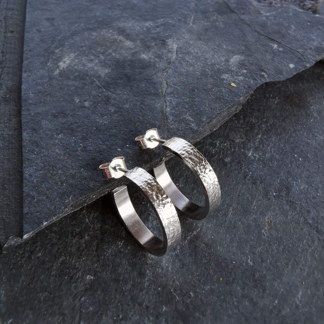 Metal and Lace Hoop Earrings MEDIUM