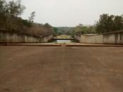 Embalse de Burro negro, zona del aliviadero totalmente seca