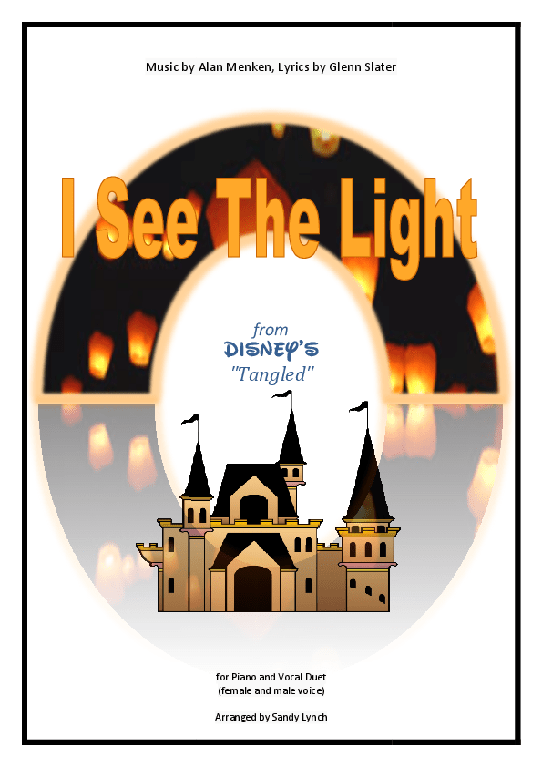 Piano i see the light piano sheet music : Popular Sheet Music – sandra lynch music