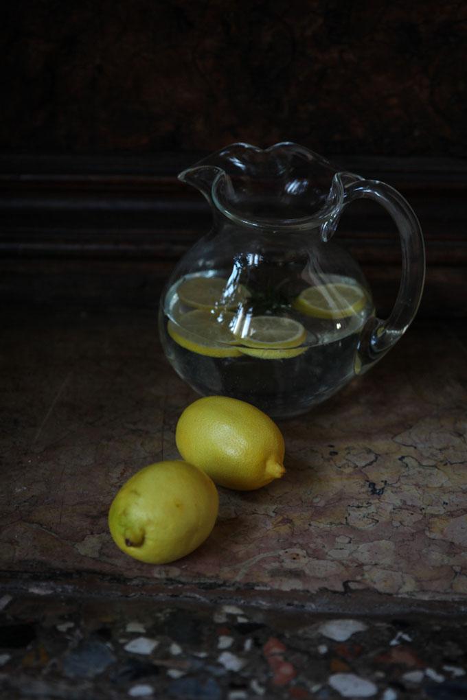 nature morte photographique au citron