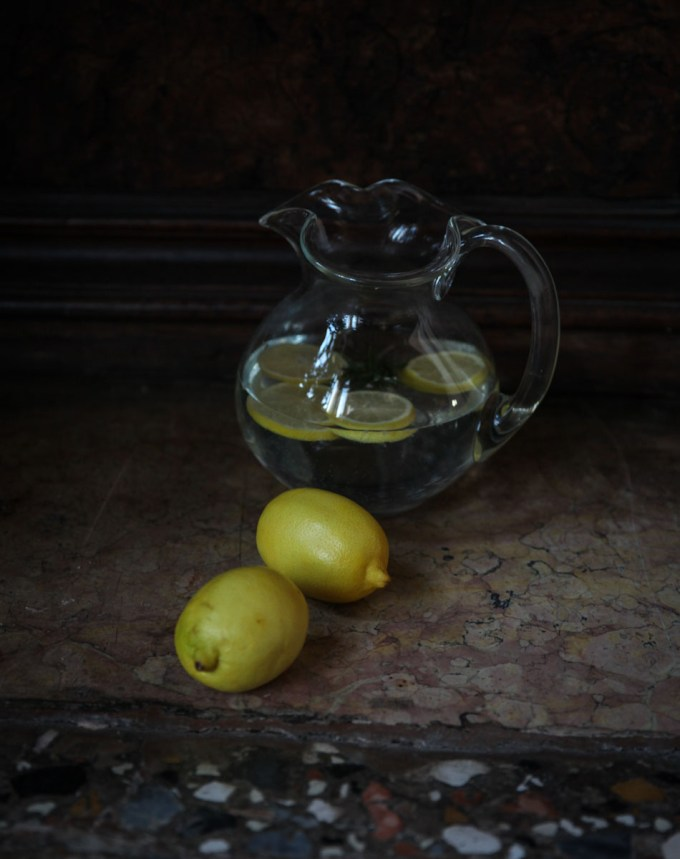 nature morte photographique au citron