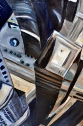 Glass Towers by Sandra Mucha | Oil on Canvas | 48