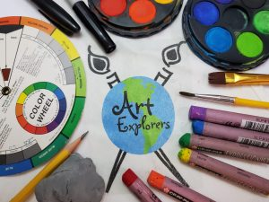 Virtual art after-school art lesson