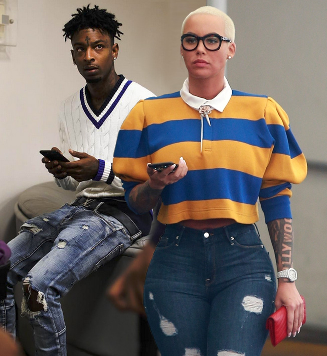 Celebrity Sighting Amber Rose And 21 Savage In Atlanta