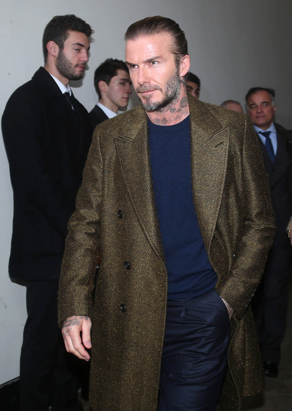 David Beckham Attends The Louis Vuitton Menswear Fall