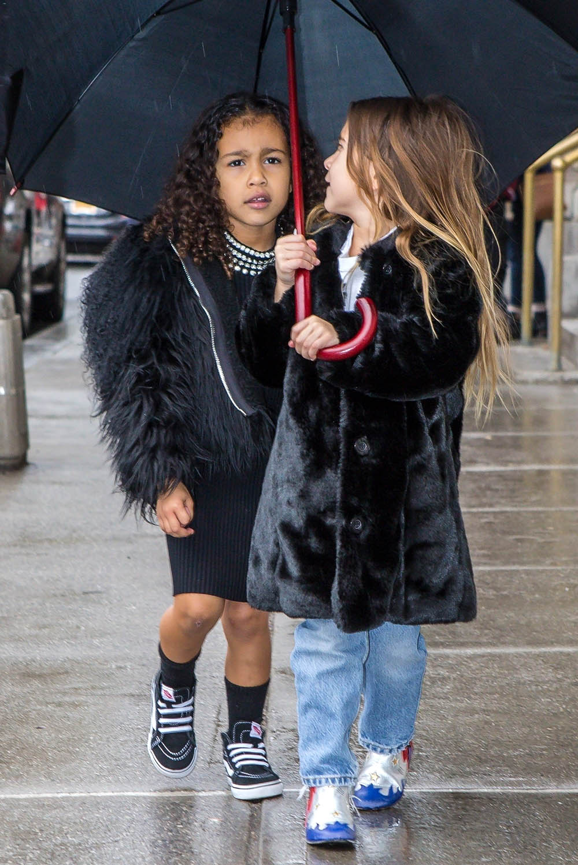 Kourtney Kardashian Takes Penelope And North Ice Skating