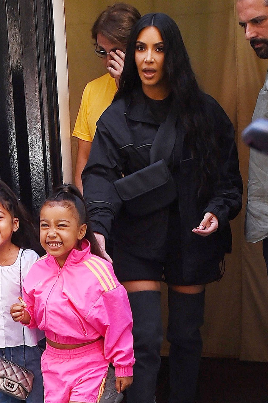 Kim Kardashian Steps Out With North West And Jonathan