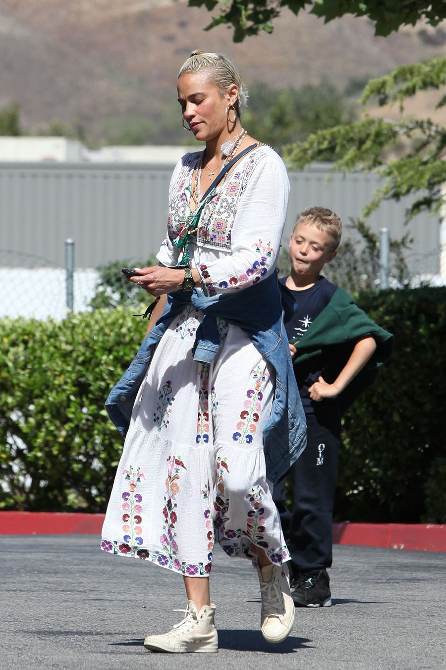 Paula Patton Took Her Son Julian Fuego Thicke Grocery