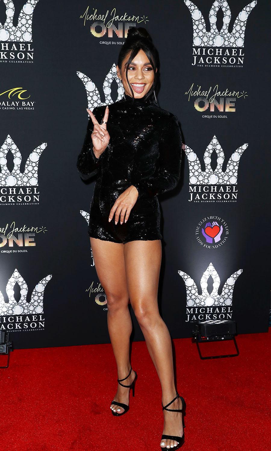Vanessa Hudgens Attend Michael Jackson Diamond Birthday