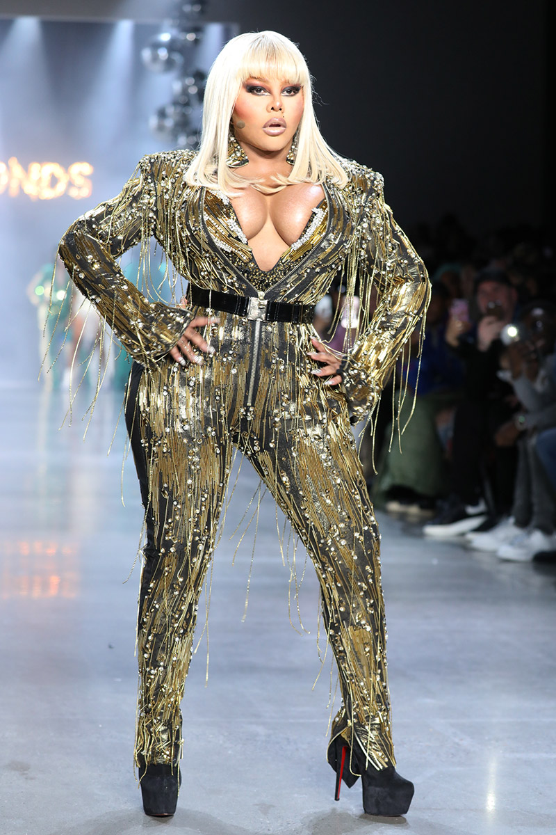 Lil Kim At The Blonds AutumnWinter 2019 20 Collection