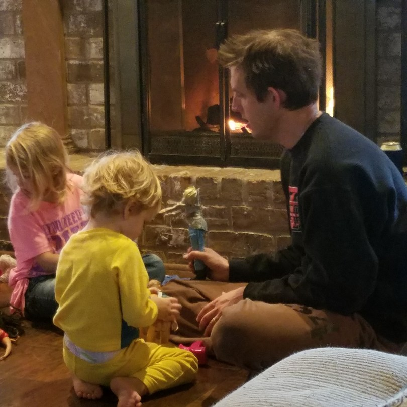 dads playing dolls, family sticks together